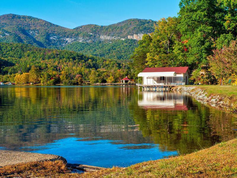 Lake Lure, Chimney Rock Park, North Carolina, USA