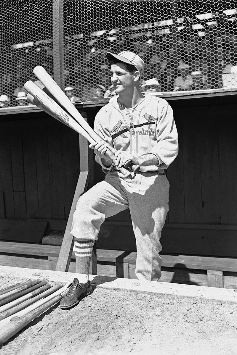 Sammy Baugh preparing to bat with the St. Louis Cardinals in 1929