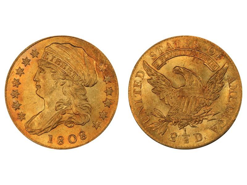 1808 Capped Bust Left Quarter Eagle