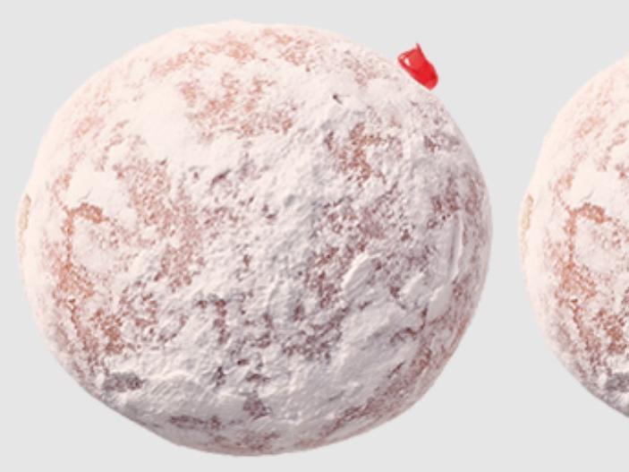 Powdered Strawberry Filled Donut