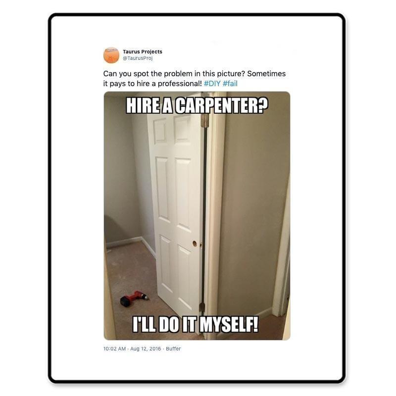 Doorknob hole put on wrong side of door
