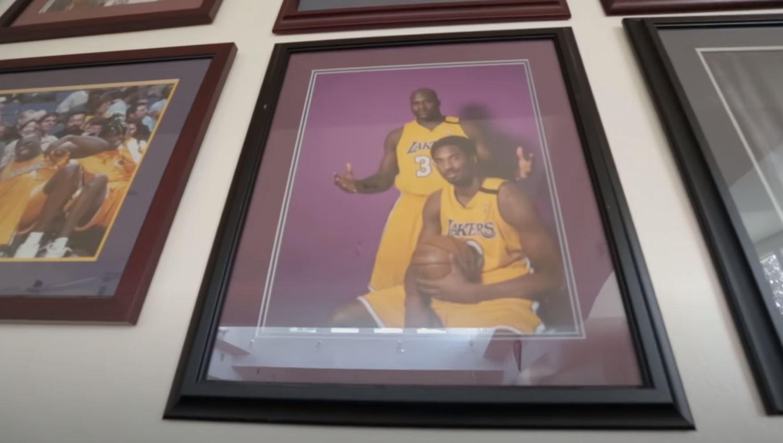 Framed photo of Kobe and Shaq