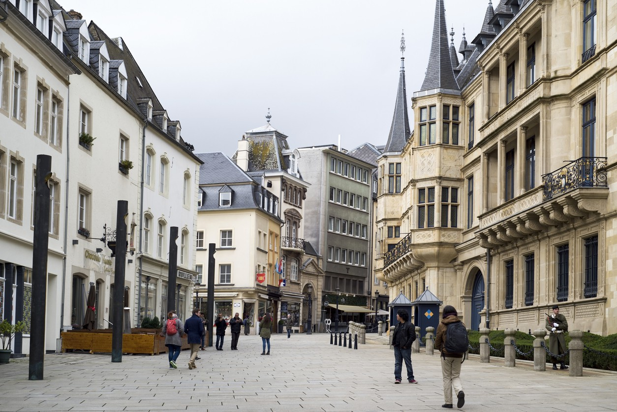 Rue du Marche-aux-Herbes in Luxembourg City