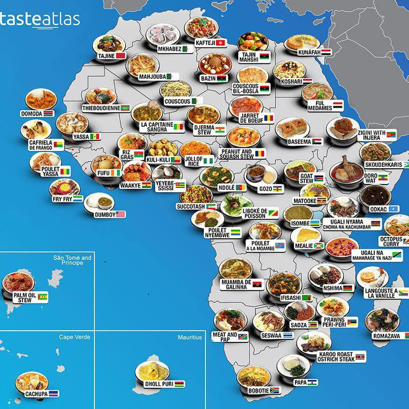Food map of Africa