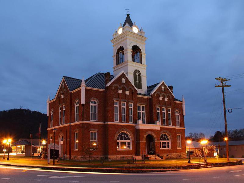 Historic Union County Courthouse in Blairsville, Georgia