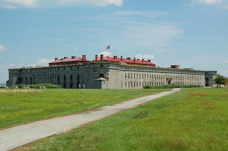 Facade of Fort Delaware