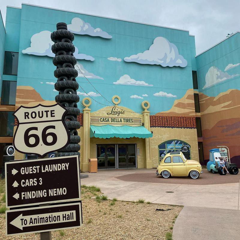 Outside of Route 66 at Disney's Art of Animation Resort