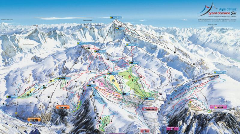Alpe Huez trail map
