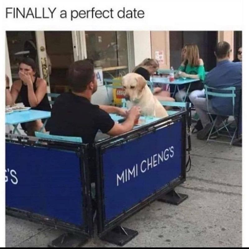 man eating with dog
