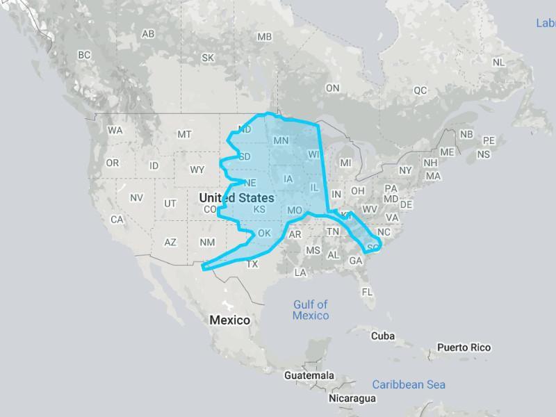 Alaska compared to the U.S.