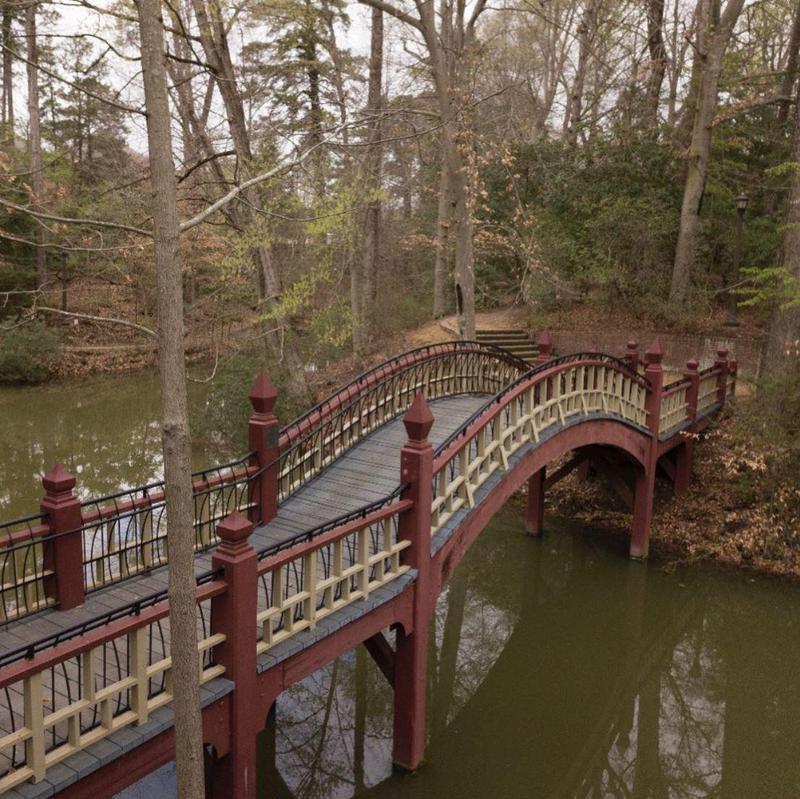 The Crim Dell bridge at William and Mary