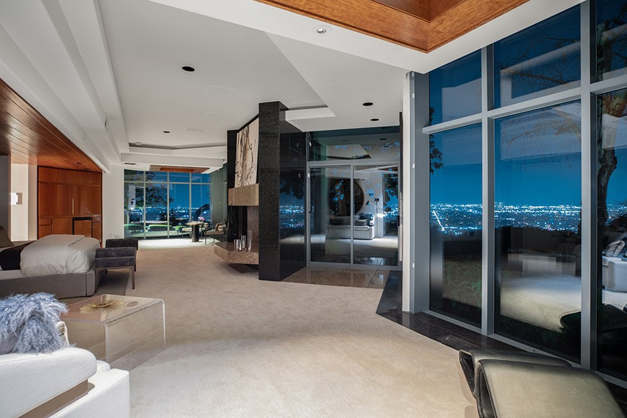 Pharrell Williams' views from the master bedroom
