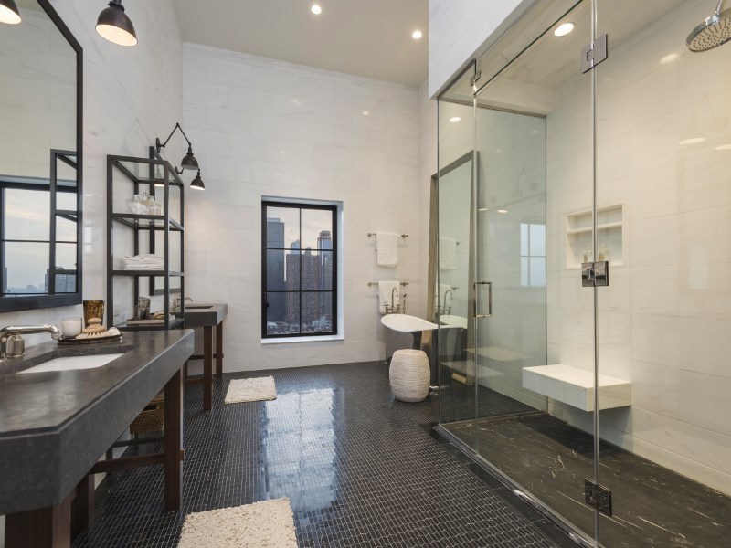 Trevor Noah's bathroom in his apartment