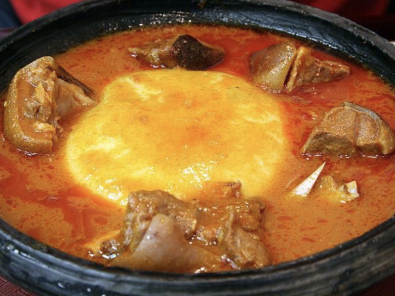Fufu and Goat Light Soup