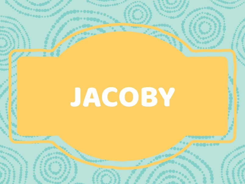 J Baby Names: Jacoby