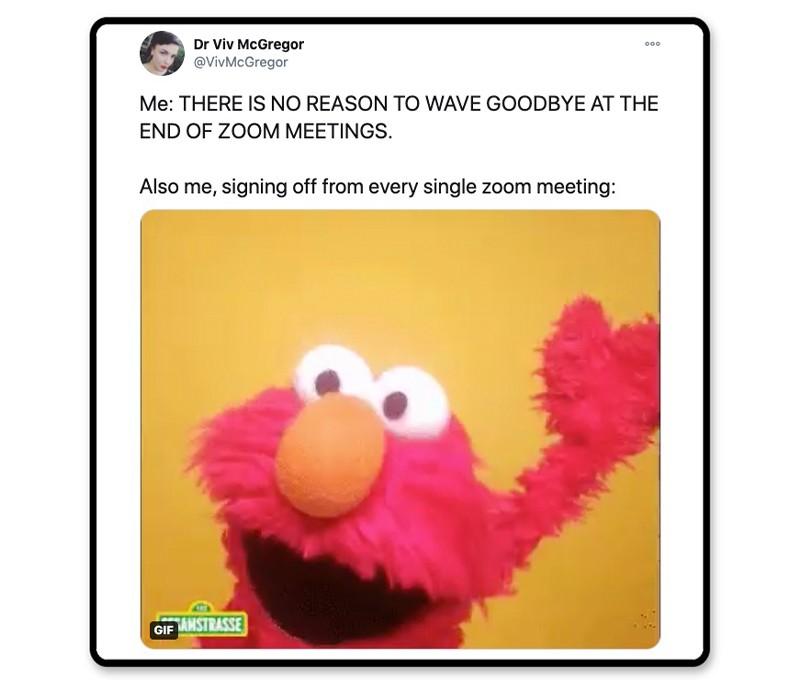 Elmo says goodbye