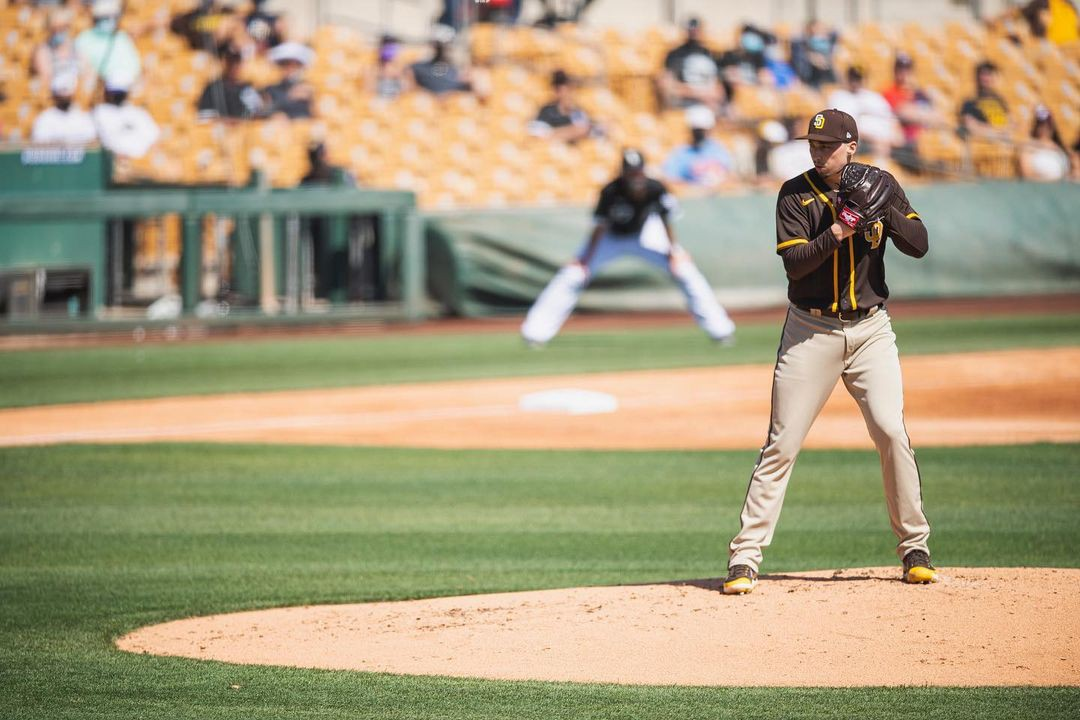 San Diego Padres pitcher Blake Snell on the mound