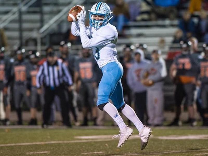 Mingo Central High wide receiver Drew Hatfield