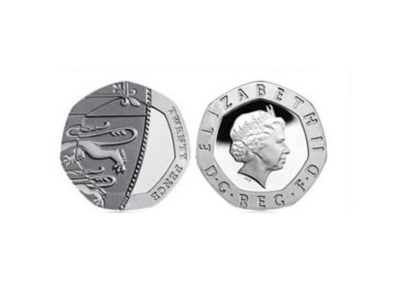 2008 UK Undated 20p Coin