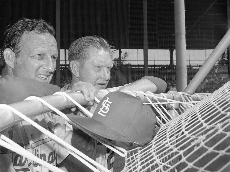 Stan Musial and Red Schoendienst