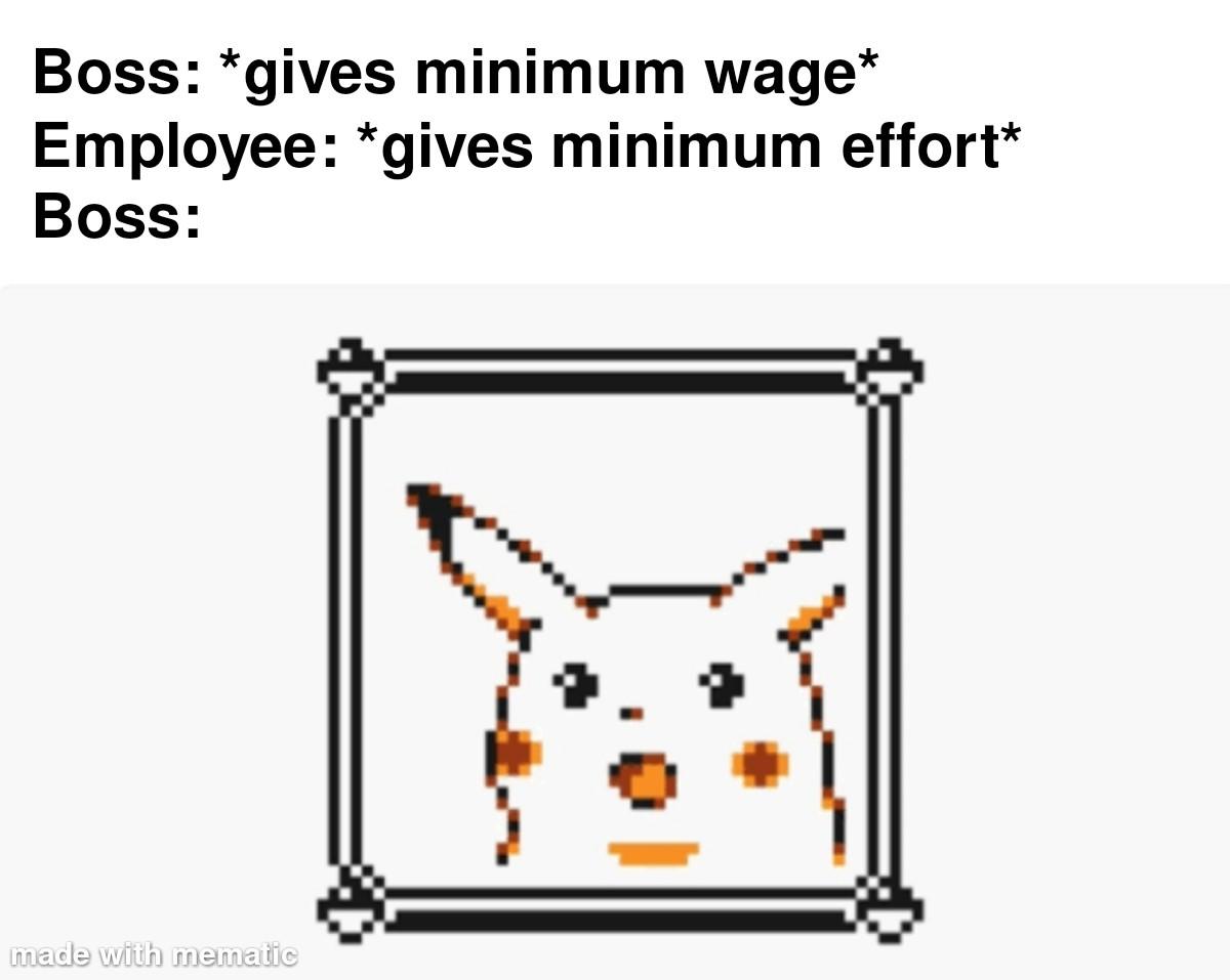 Minimum wage meme