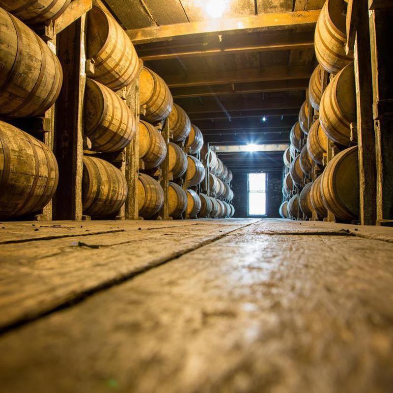 Bourbon Barrels or Casks in an aging cellar
