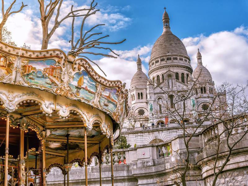 Carrousel du Sacre Coeur in Paris