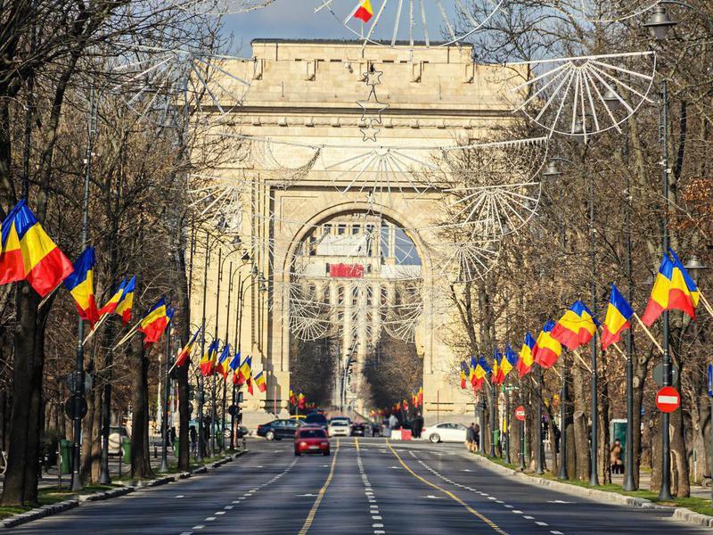 The Arch of Triumph (Arcul de Triumf) from Bucharest Romania