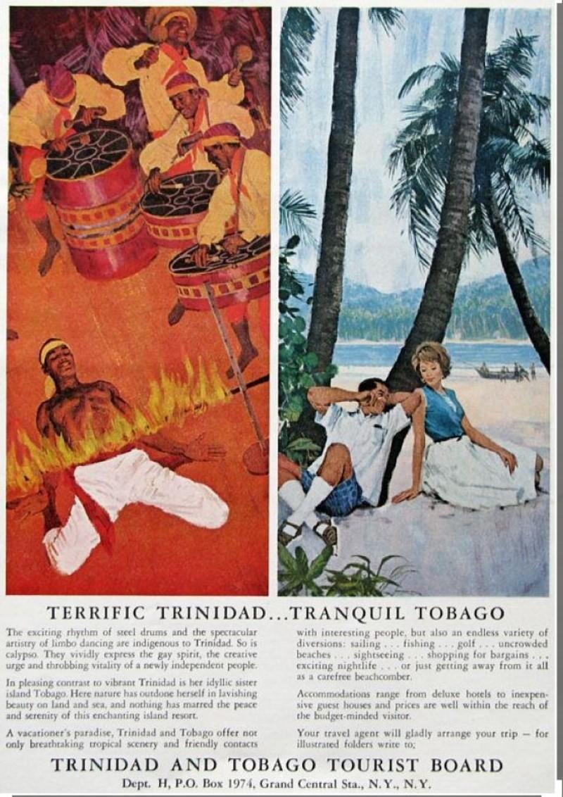 Vintage travel ad for Trinidad