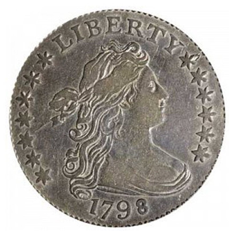 1798 Small 8 Draped Bust Dime