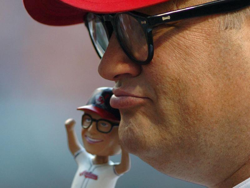 Drew Carey and bobblehead doll