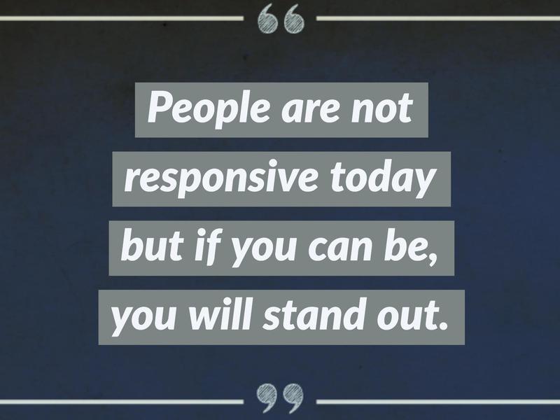 on responsiveness