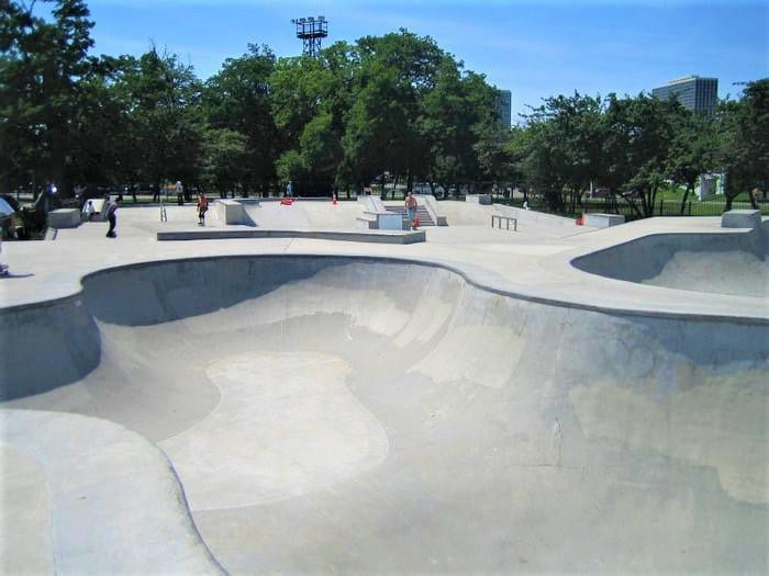 Wilson Skate and Scooter Park in Chicago, Illinois