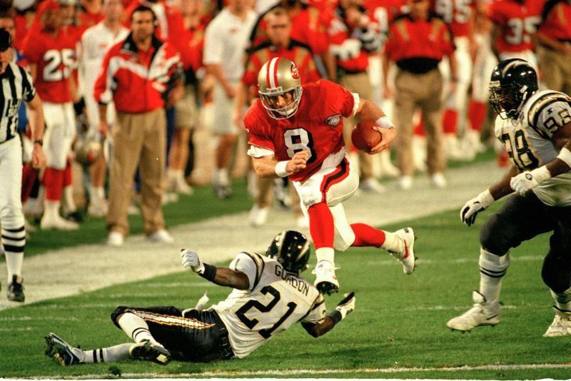 Steve Young in Super Bowl XXIX