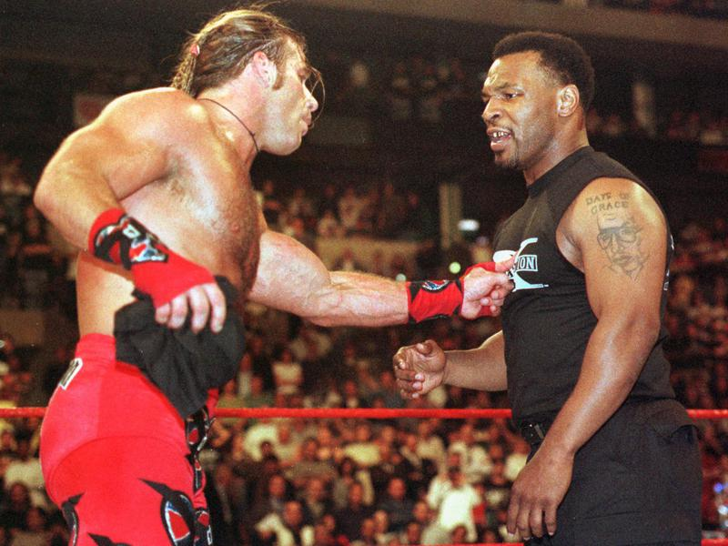 Shawn Michaels and Mike Tyson