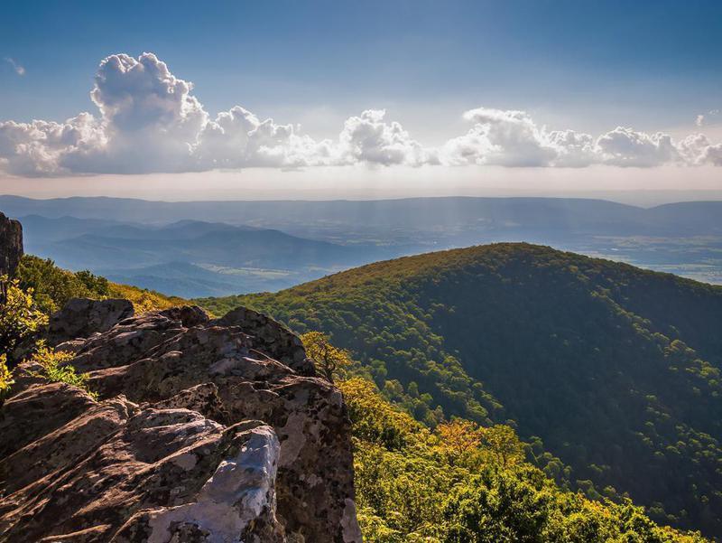 Hawksbill Summit in Shenandoah National Park, Virginia
