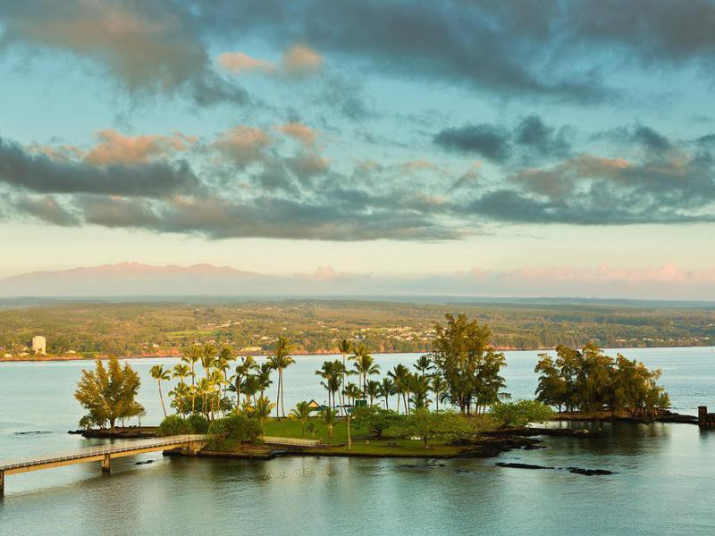Coconut Island at Morning Sunset, Hilo, Hawaii