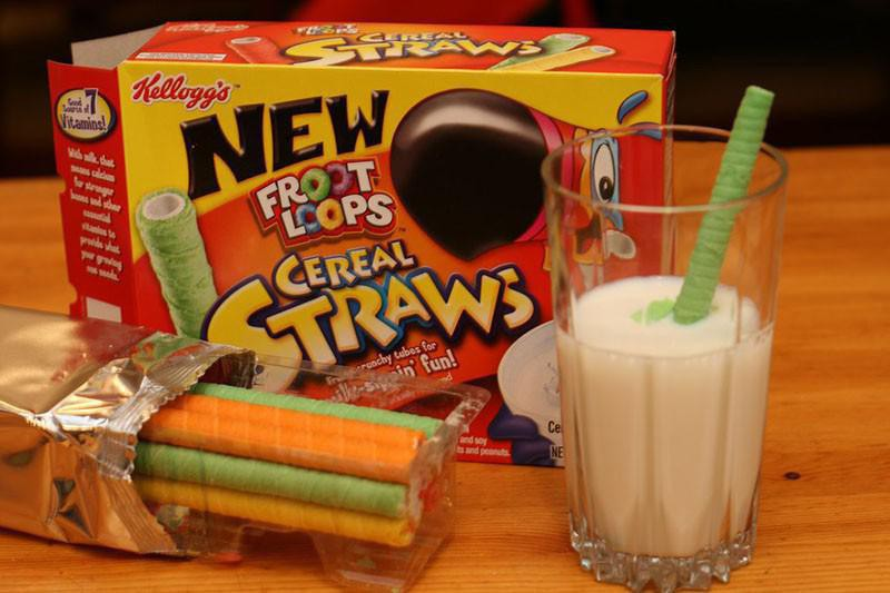 Froot Loop Cereal Straws