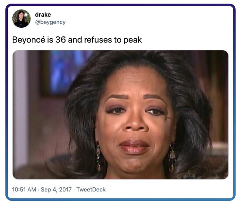 Beyoncé keeps going