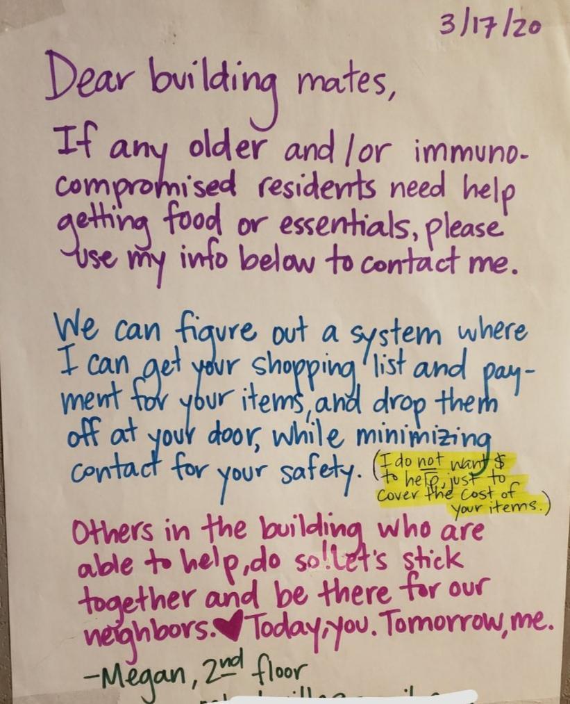 New York City tenant letter