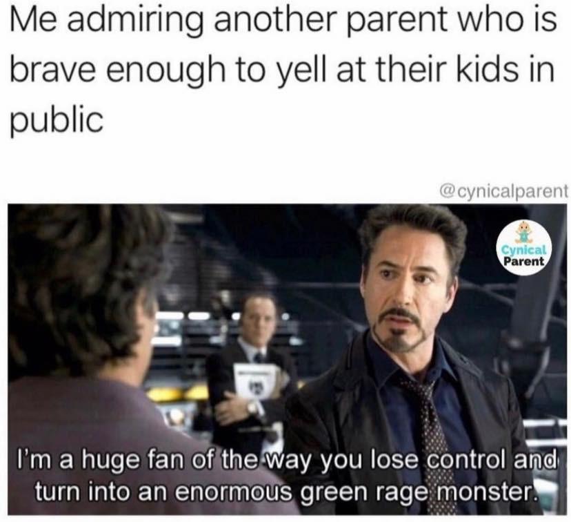 Yelling at kids meme
