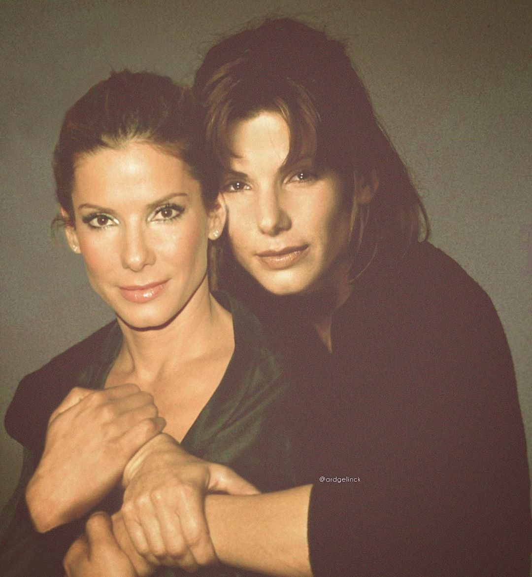 Sandra Bullock young and old