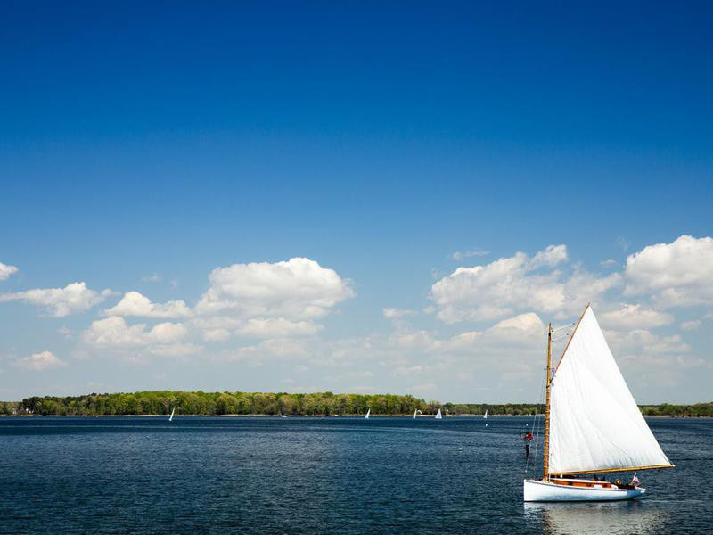 Sailboat St Michaels in Maryland