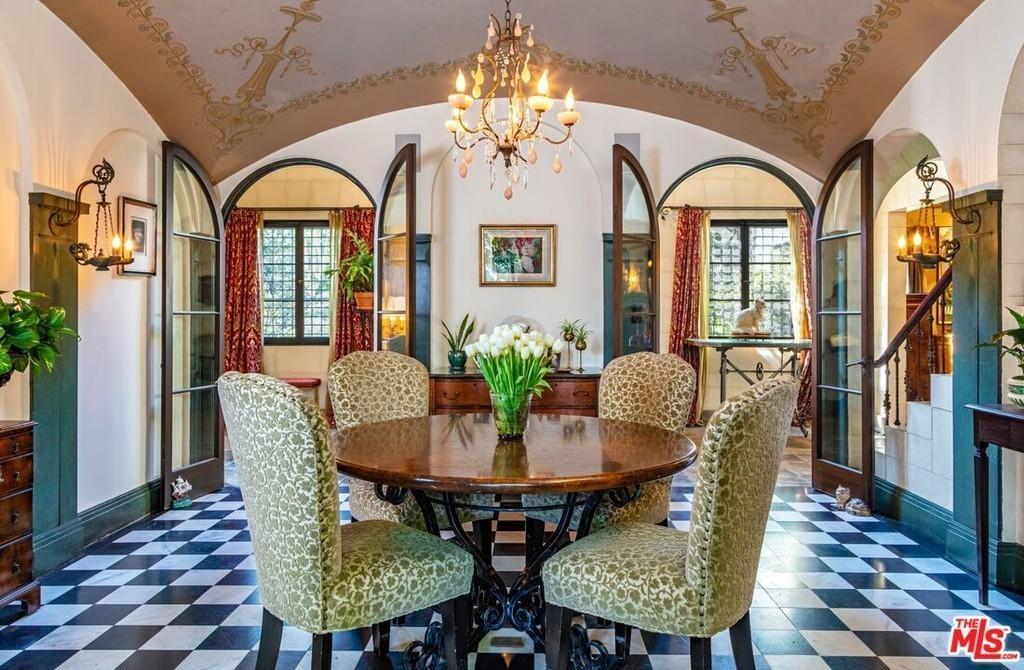 Breakfast room in Danny Elfman's house
