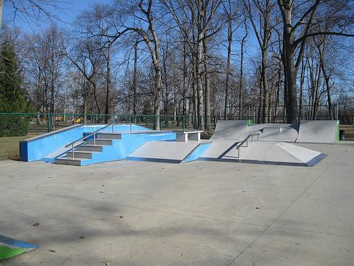 Forest Park in Noblesville, Indiana is a great place to skateboard and scooter