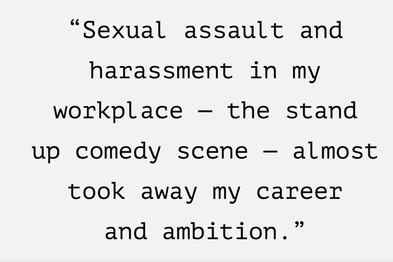 Sexual harassment almost took away my ambition