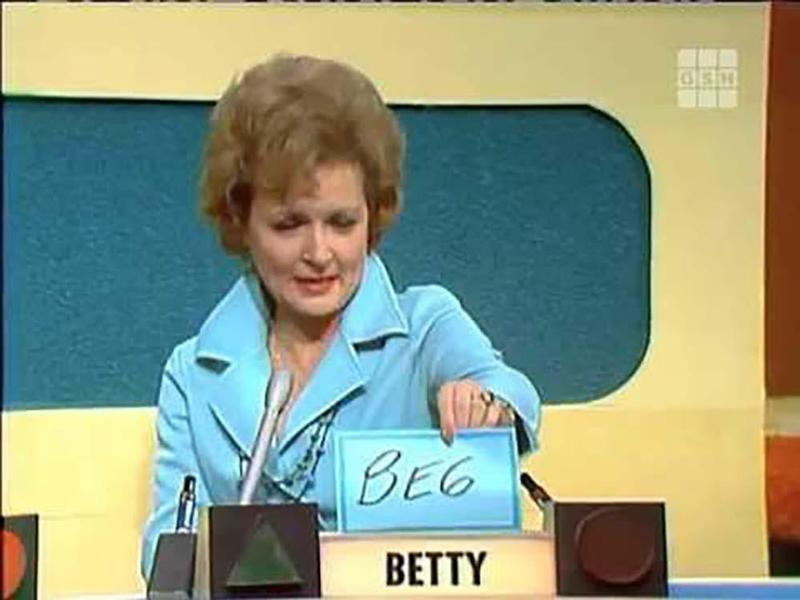 betty white match game