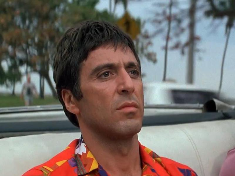 """Al Pacino in """"Scarface."""" (1983)"""