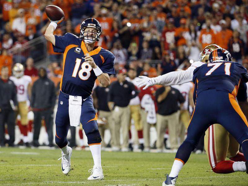 Denver Broncos quarterback Peyton Manning throws 509th career touchdown pass
