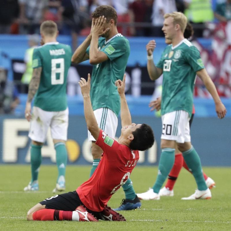 Germany gets upset by South Korea